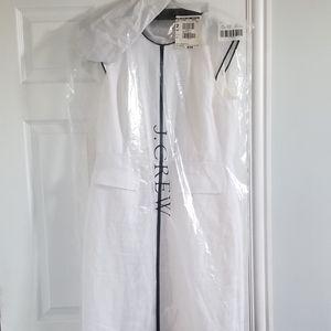 White linen work dress